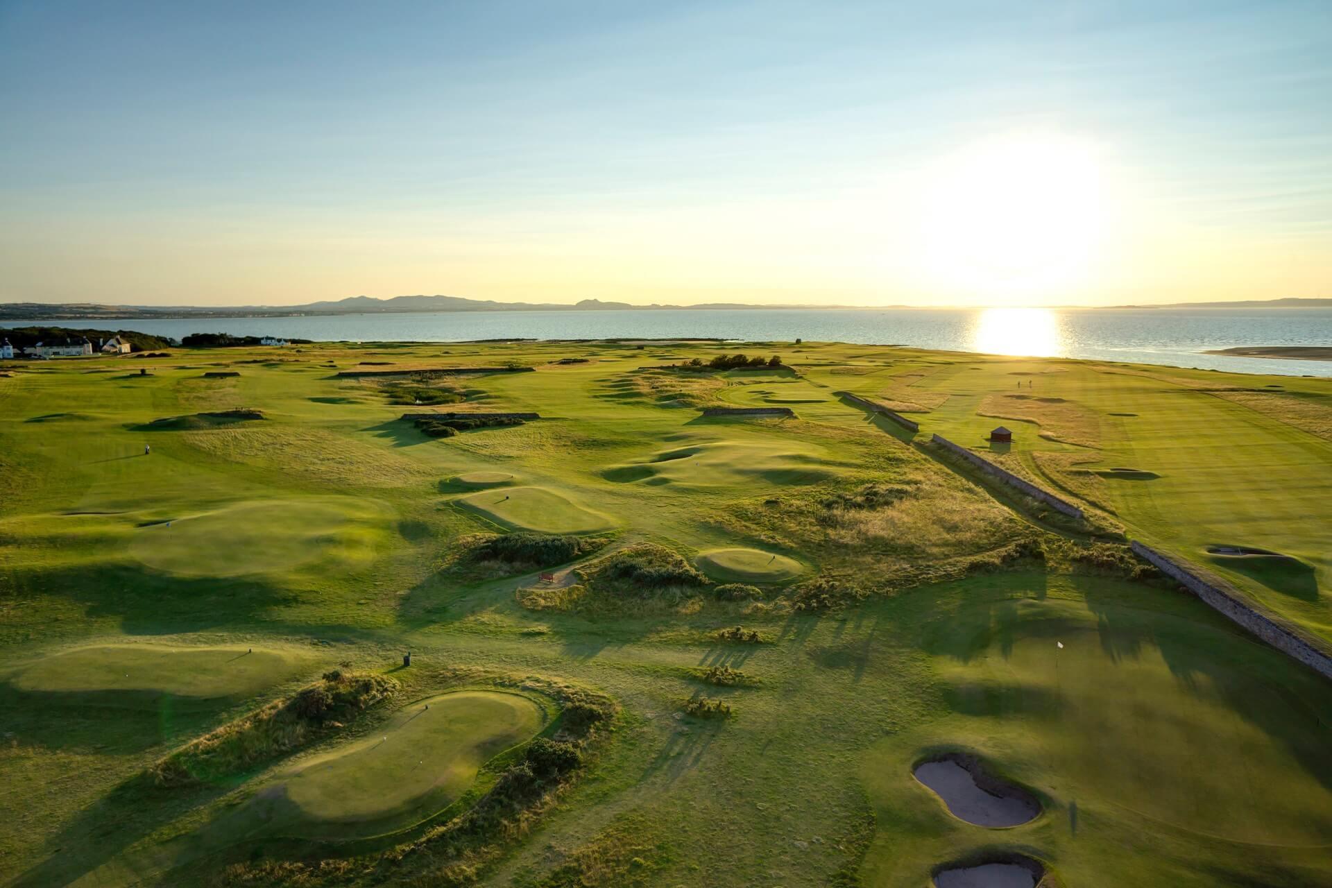 Craigielaw Golf Club Drone Shot