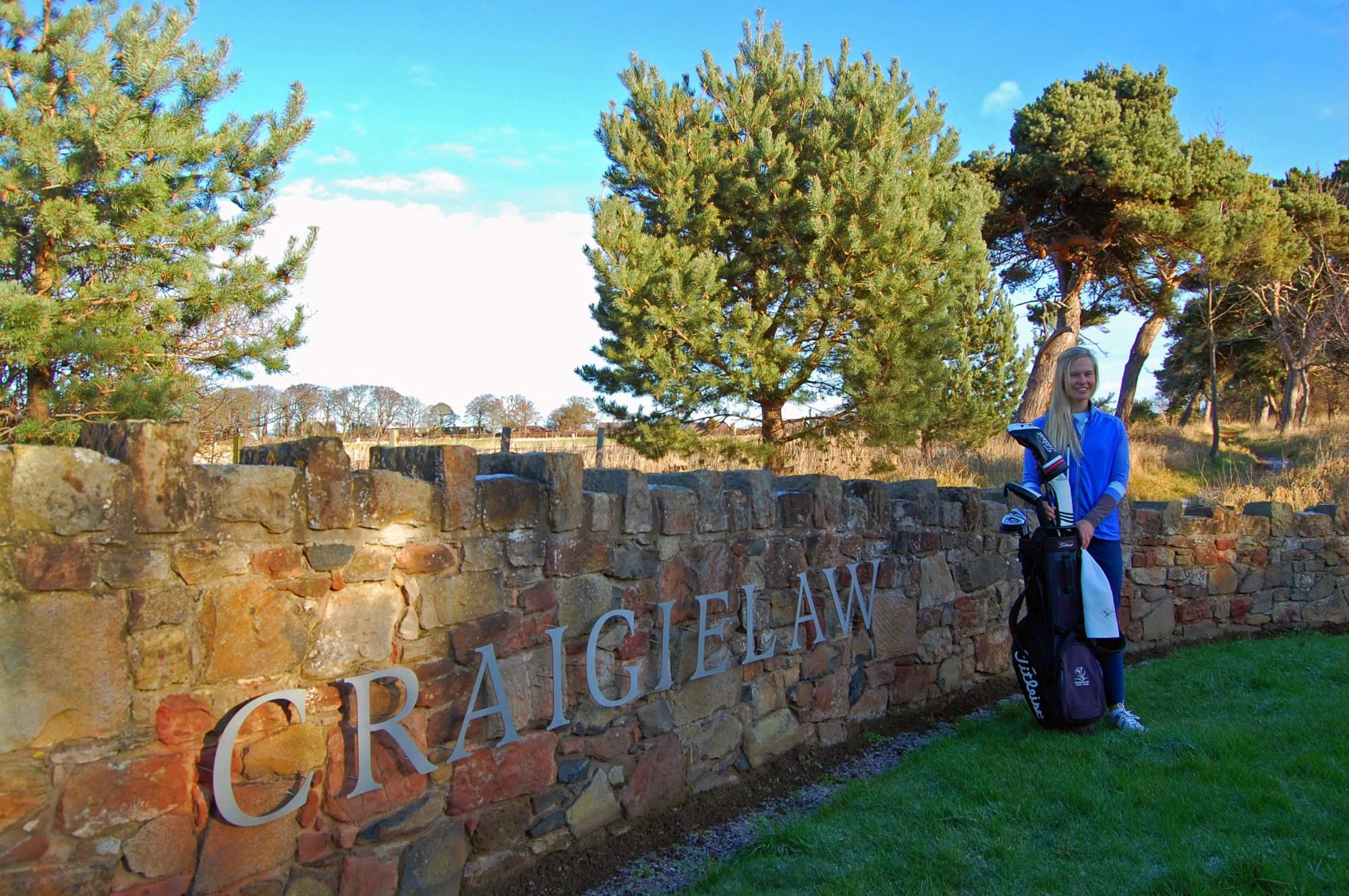 Gabrielle Macdonald at Craigielaw Golf Club